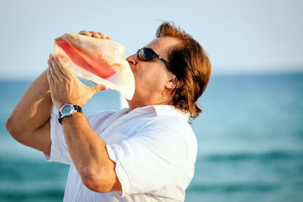 Blowing of the Conch Shell - Unique and Memorable!!!